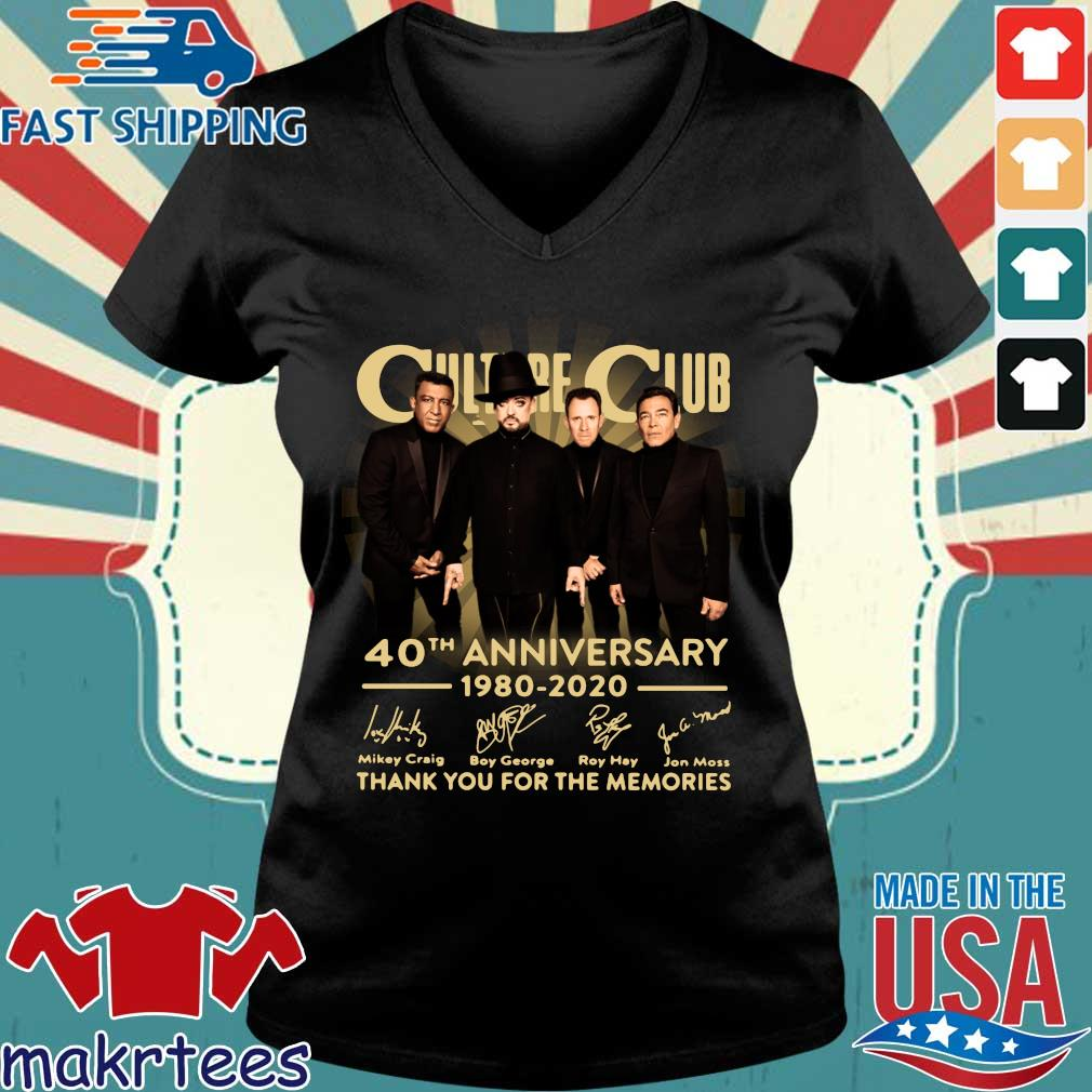 Culture Club 40th Anniversary 1980 2020 Thank You For The Memories Shirt Ladies V-neck den