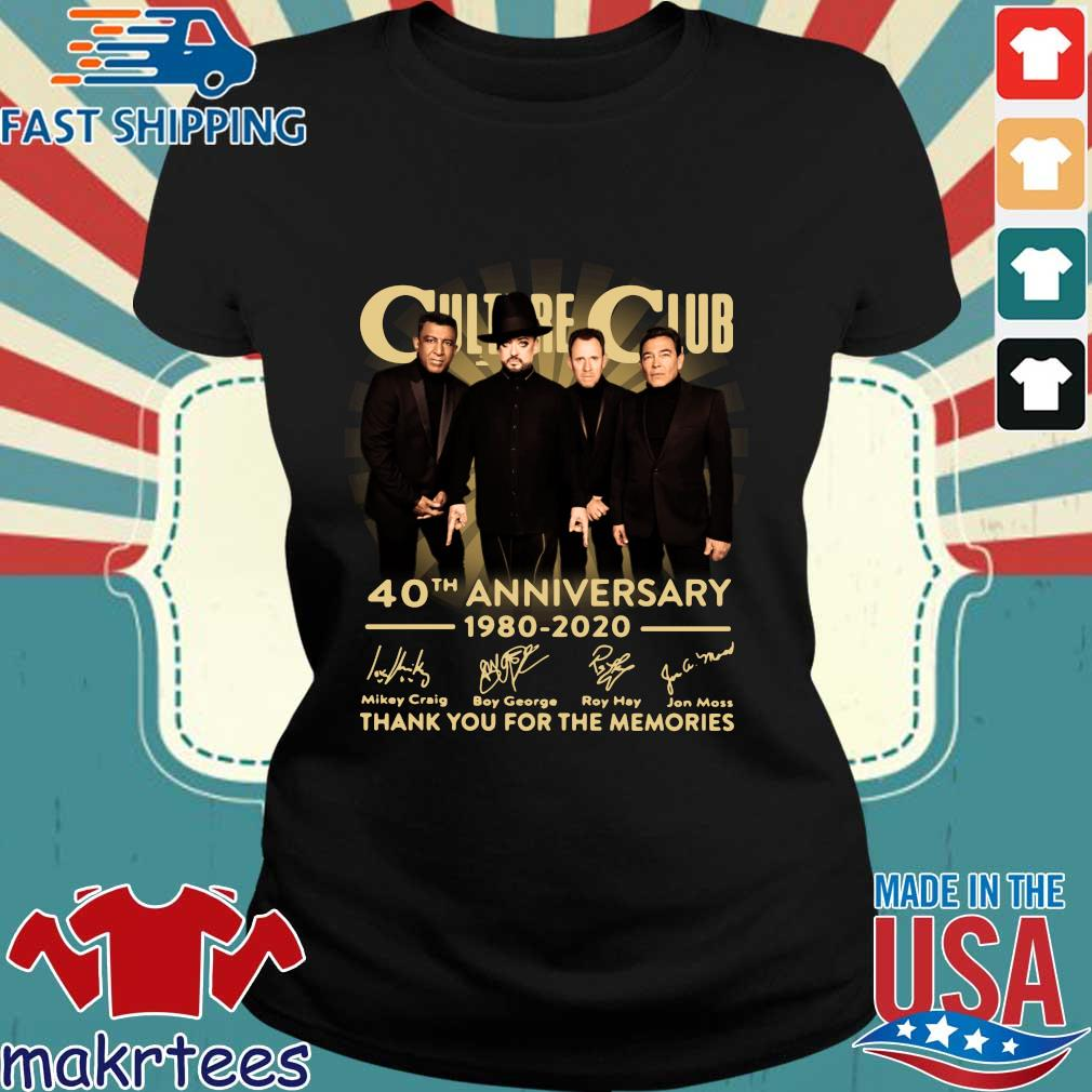 Culture Club 40th Anniversary 1980 2020 Thank You For The Memories Shirt Ladies den