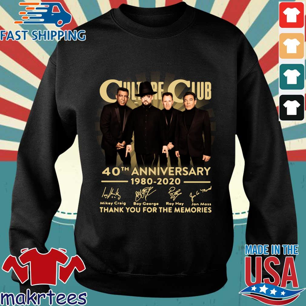Culture Club 40th Anniversary 1980 2020 Thank You For The Memories Shirt Sweater den