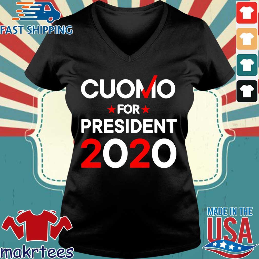 Cuomo For President 2020 Shirt Ladies V-neck den