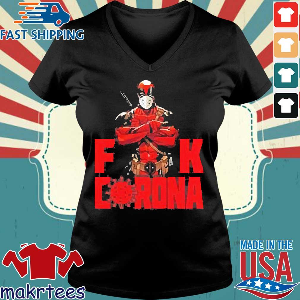 Deadpool Fuck Corona Shirt Ladies V-neck den