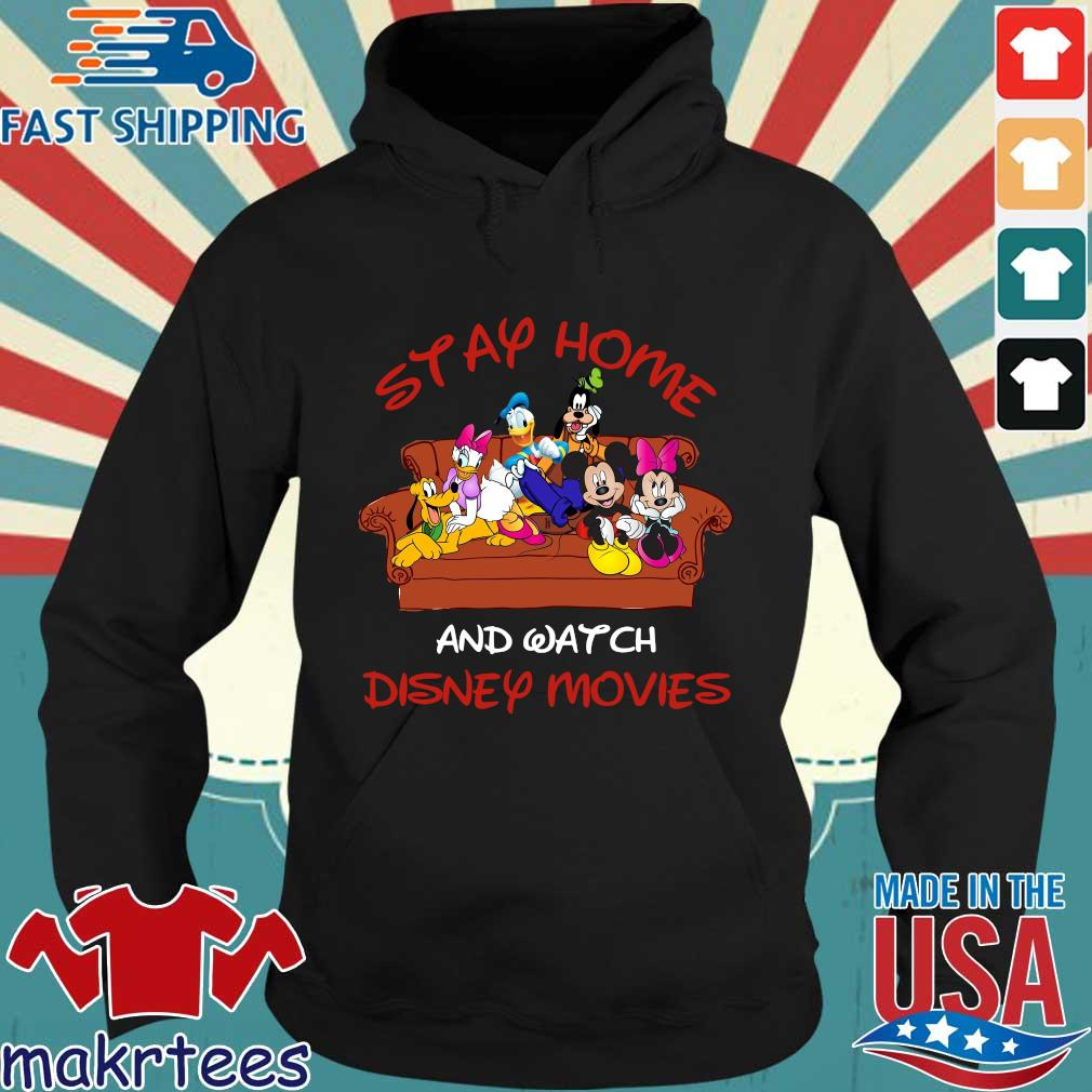 Disney Mickey And Friends Stay Home And Watch Disney Movie Covid-19 Shirt Hoodie den