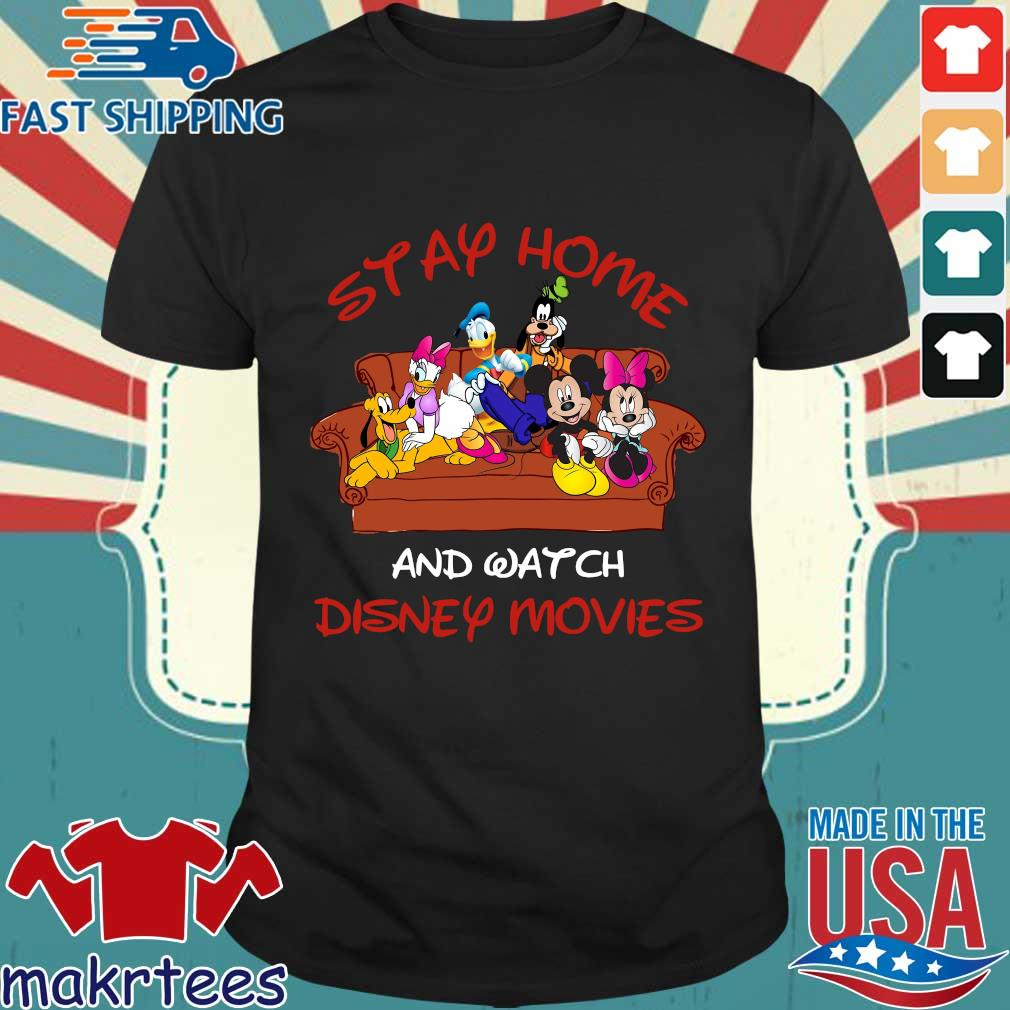Disney Mickey And Friends Stay Home And Watch Disney Movie Covid-19 Shirt