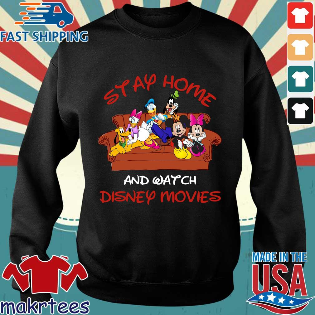 Disney Mickey And Friends Stay Home And Watch Disney Movie Covid-19 Shirt Sweater den