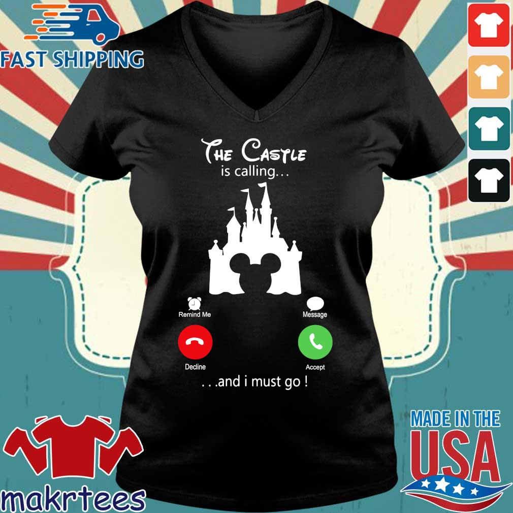 Disney Mickey The Castle Is Calling And I Must Go Shirt Ladies V-neck den