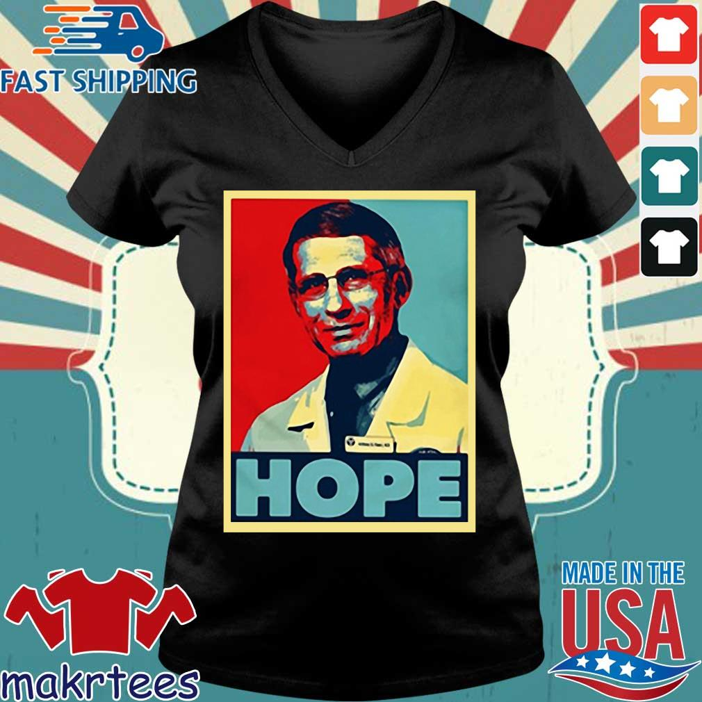 Dr Anthony Fauci Hope Shirts Ladies V-neck den