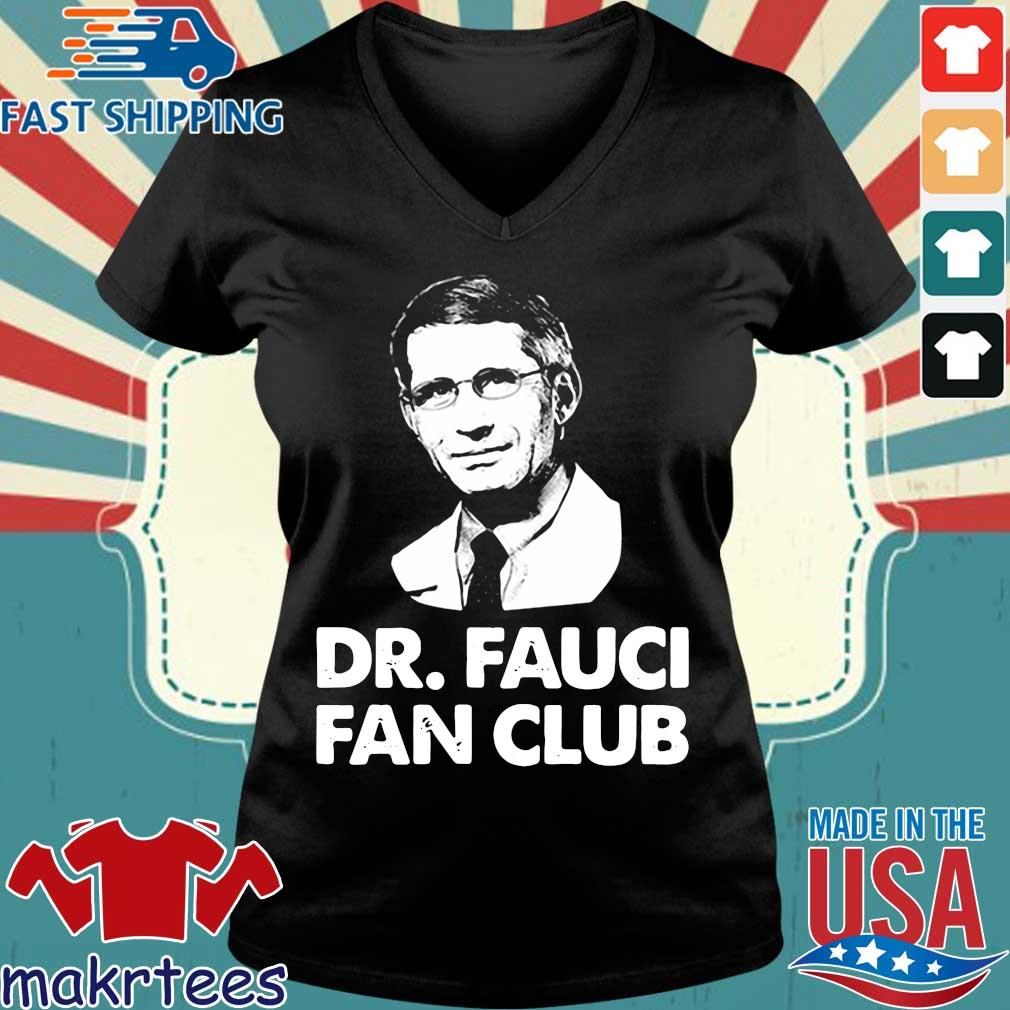 Dr Fauci Fan Club TShirt Ladies V-neck den