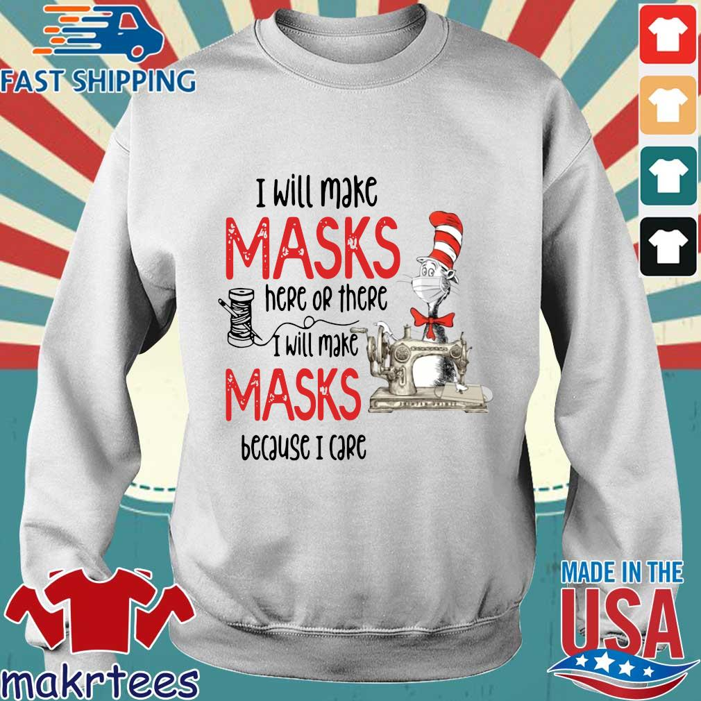 Dr Seuss I Will Make Masks Here Or There Shirt Sweater trang