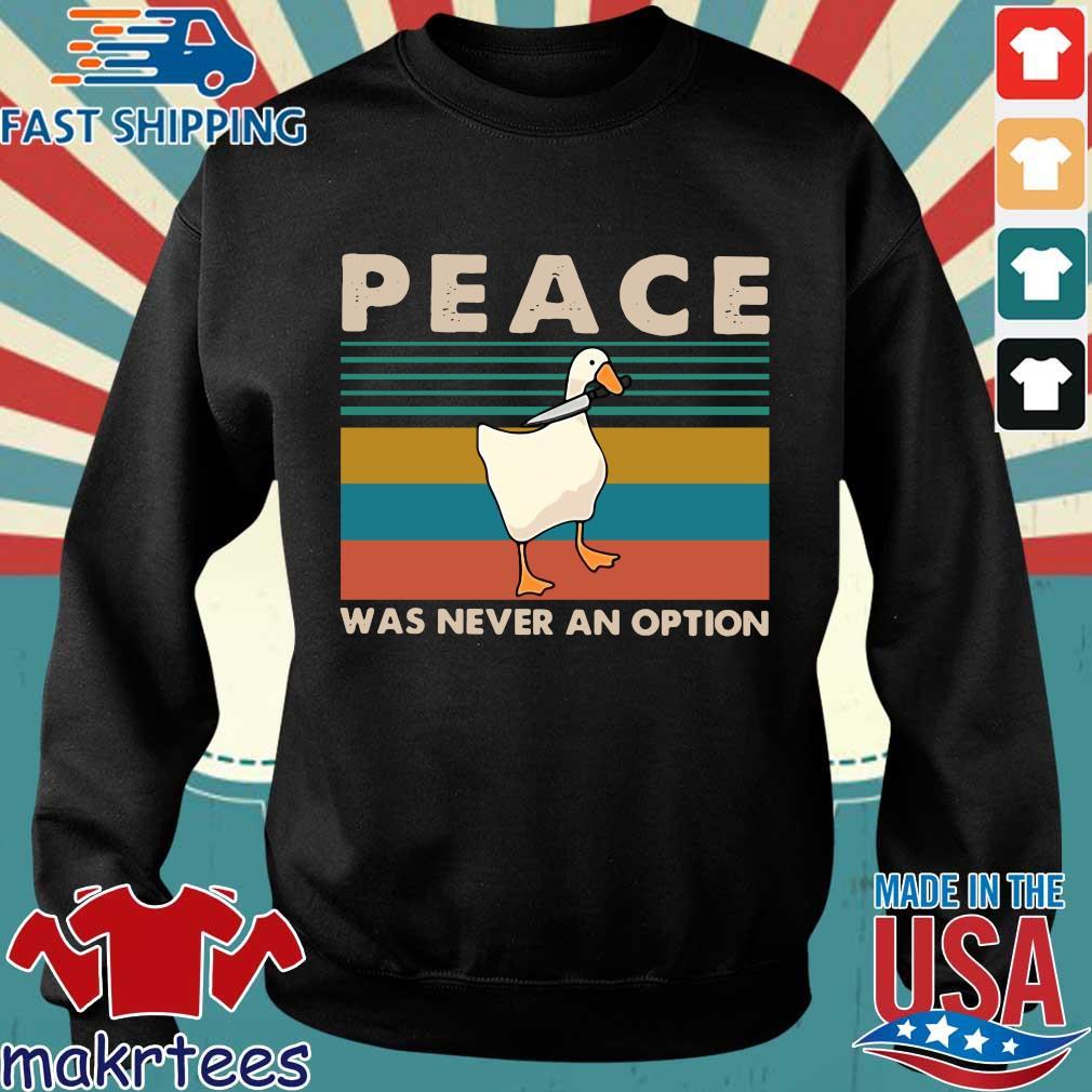 Duck Peace Was Never An Option Vintage Shirt Sweater den