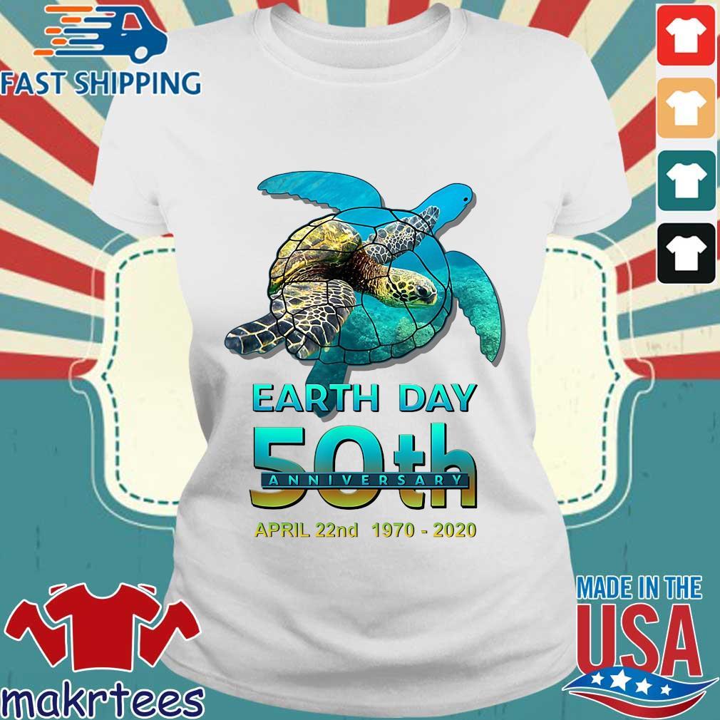 Earth Day 50th Anniversary April 22nd 1970 2020 Signatures Shirt Ladies trang
