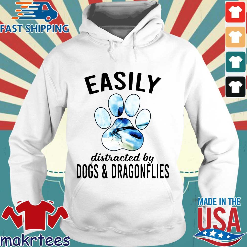 Easily Distracted By Dogs And Dragonflies Shirt Hoodie trang