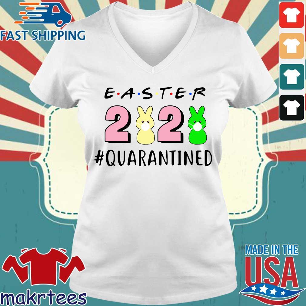 Easter 2020 Quarantined Shirt Ladies V-neck trang