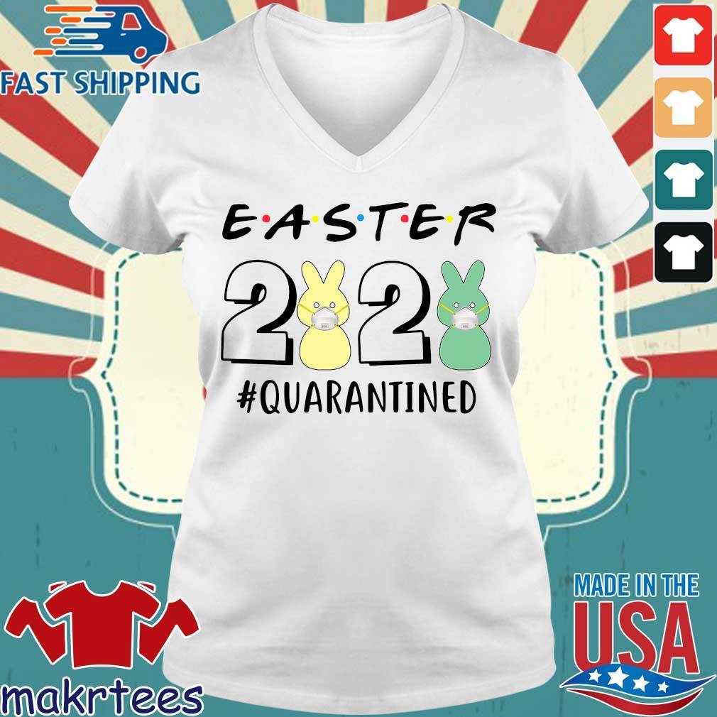Easter 2020 #quarantined Shirt Ladies V-neck trang
