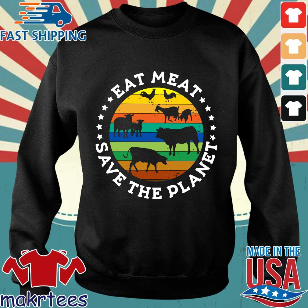 Eat Meat Save The Planet Vintage Shirt Sweater den