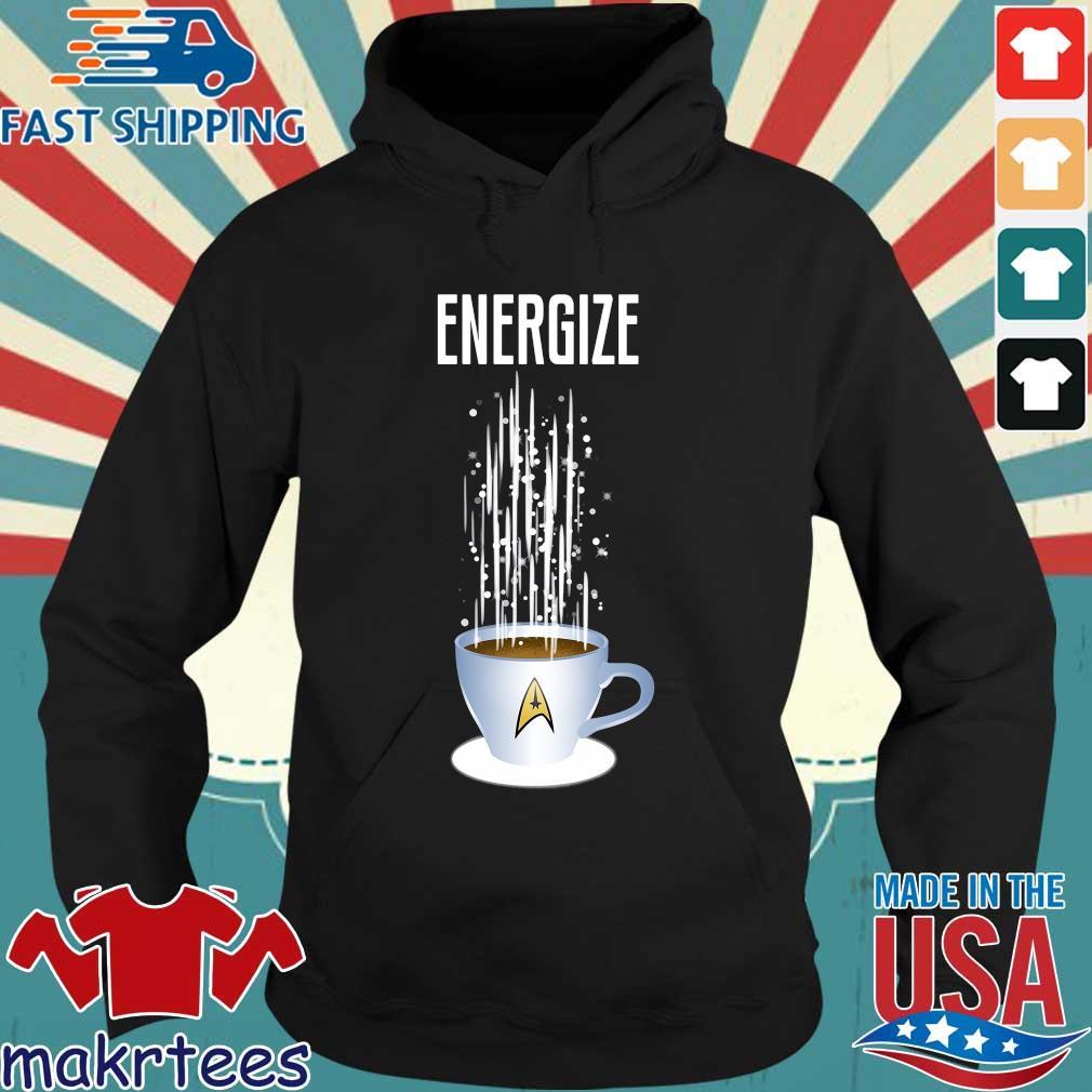 Energize Star Trek Coffee Shirt Hoodie den