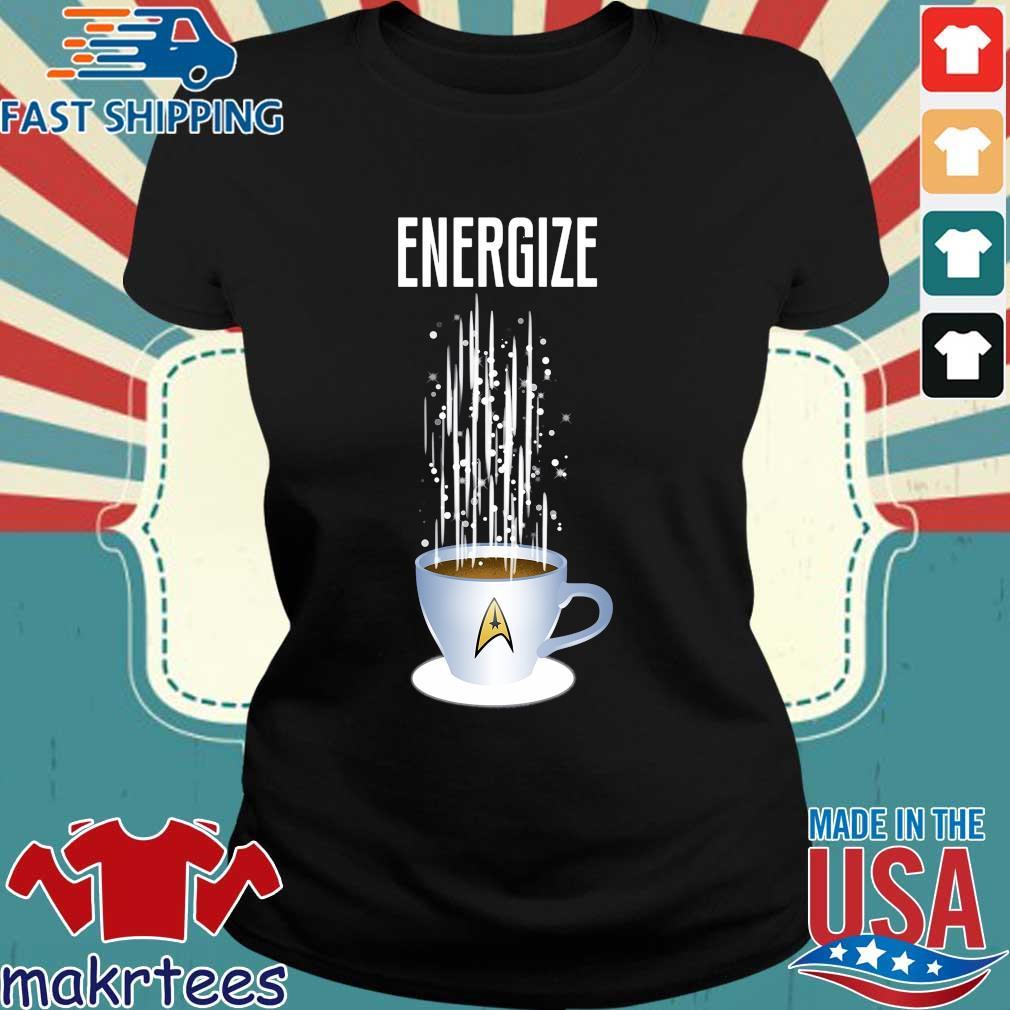 Energize Star Trek Coffee Shirt Ladies den