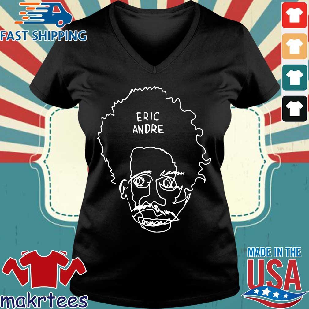 Eric Andre Merch Blind Contour Shirt Ladies V-neck den
