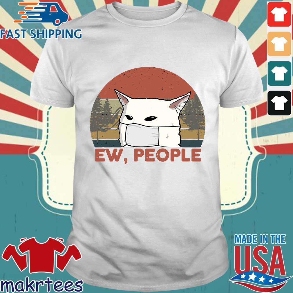 Ew People Woman Yelling Cat Mark Vintage Shirt