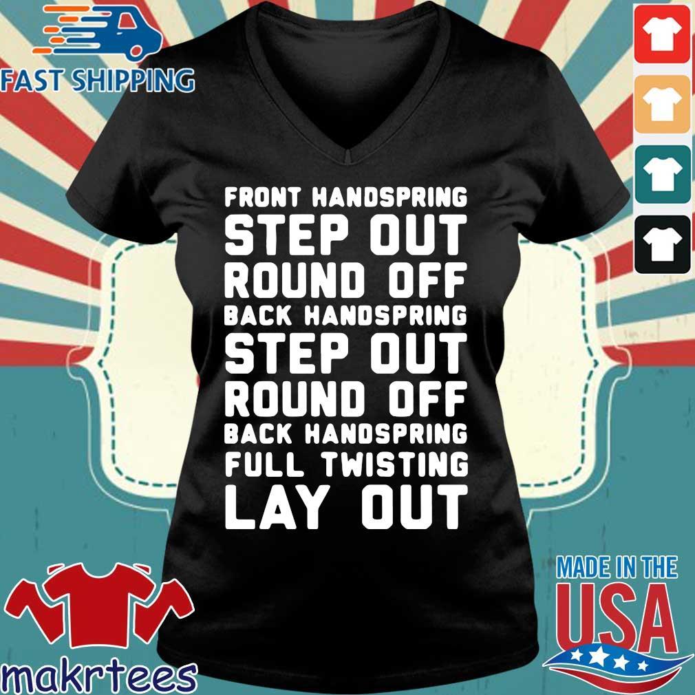 Font Handspring Step Out Round Off Back Handspring Step Out Round Off Back Handspring Full Twisting Lay Out Shirt Ladies V-neck den