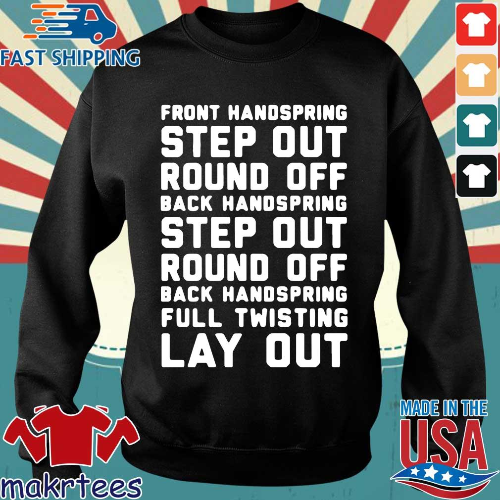 Font Handspring Step Out Round Off Back Handspring Step Out Round Off Back Handspring Full Twisting Lay Out Shirt Sweater den