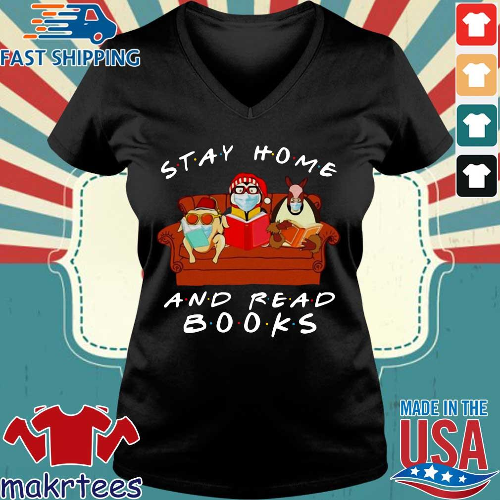 Friends Stay Home And Read Books T-s Ladies V-neck den