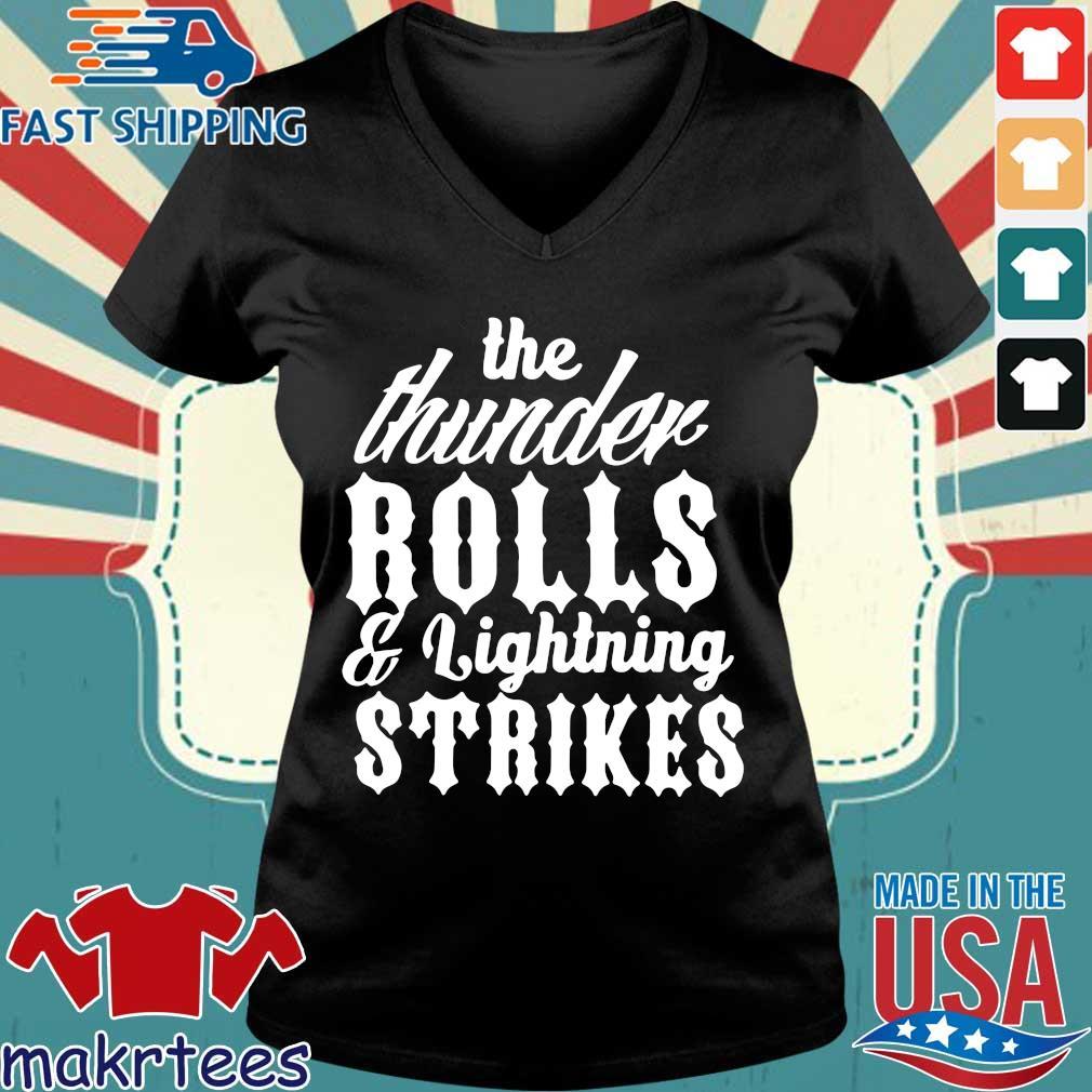 Garth Brooks Thunder Rolls And Lightning Strikes Shirt Ladies V-neck den