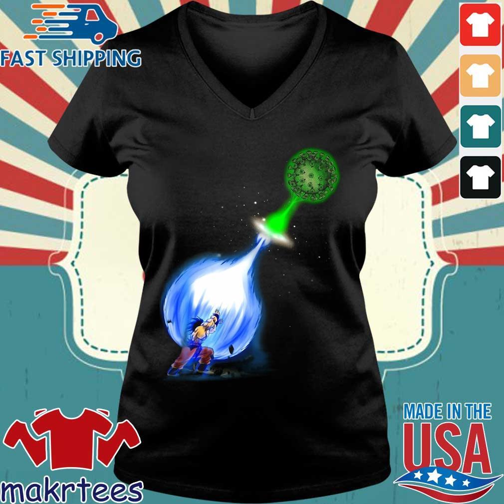 Goku Kamehameha Vs Virus Corona Shirt Ladies V-neck den