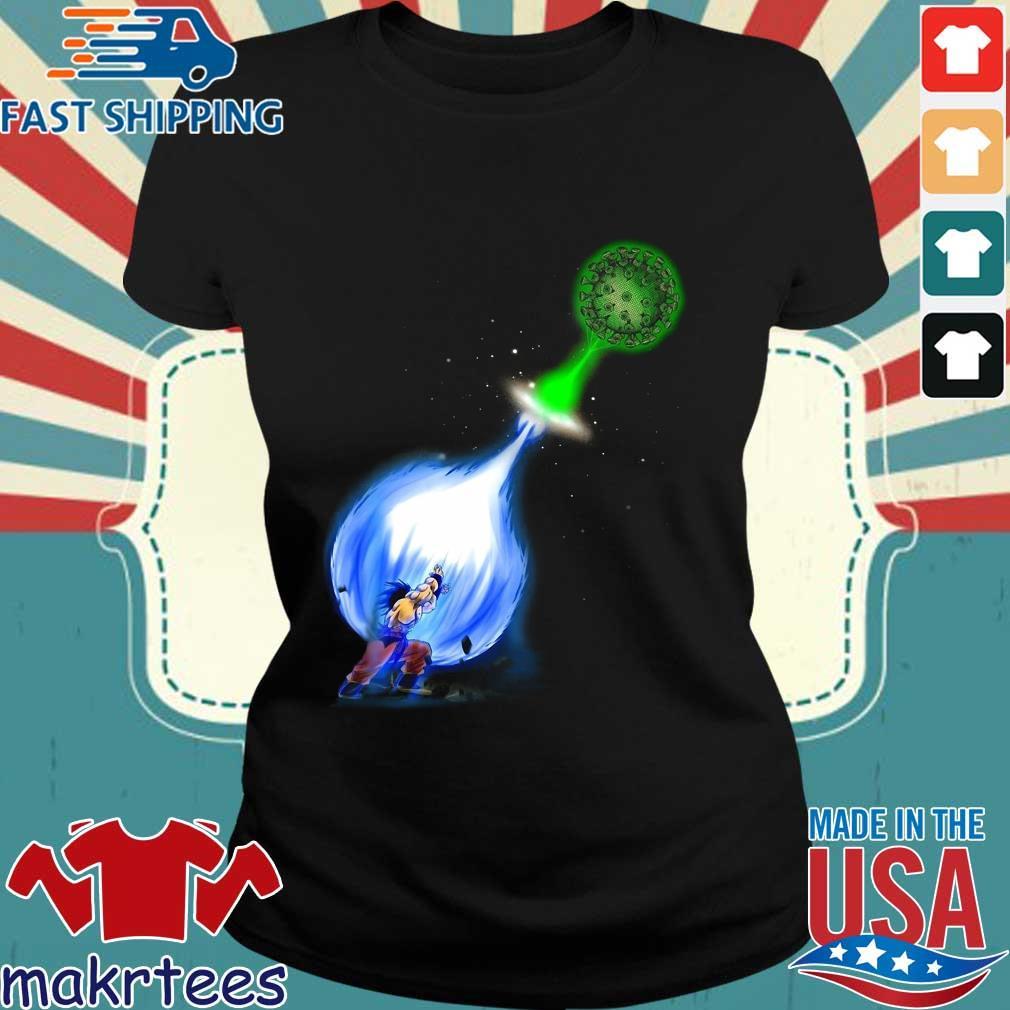 Goku Kamehameha Vs Virus Corona Shirt Ladies den