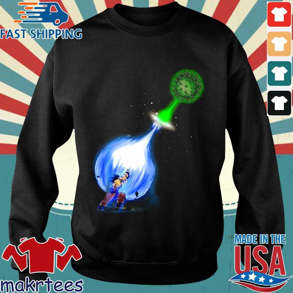 Goku Kamehameha Vs Virus Corona Shirt Sweater den