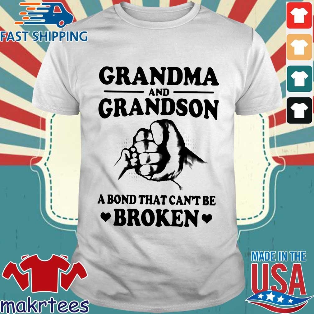 Grandma And Grandson A Bond That Can't Be Broken White Version Shirt