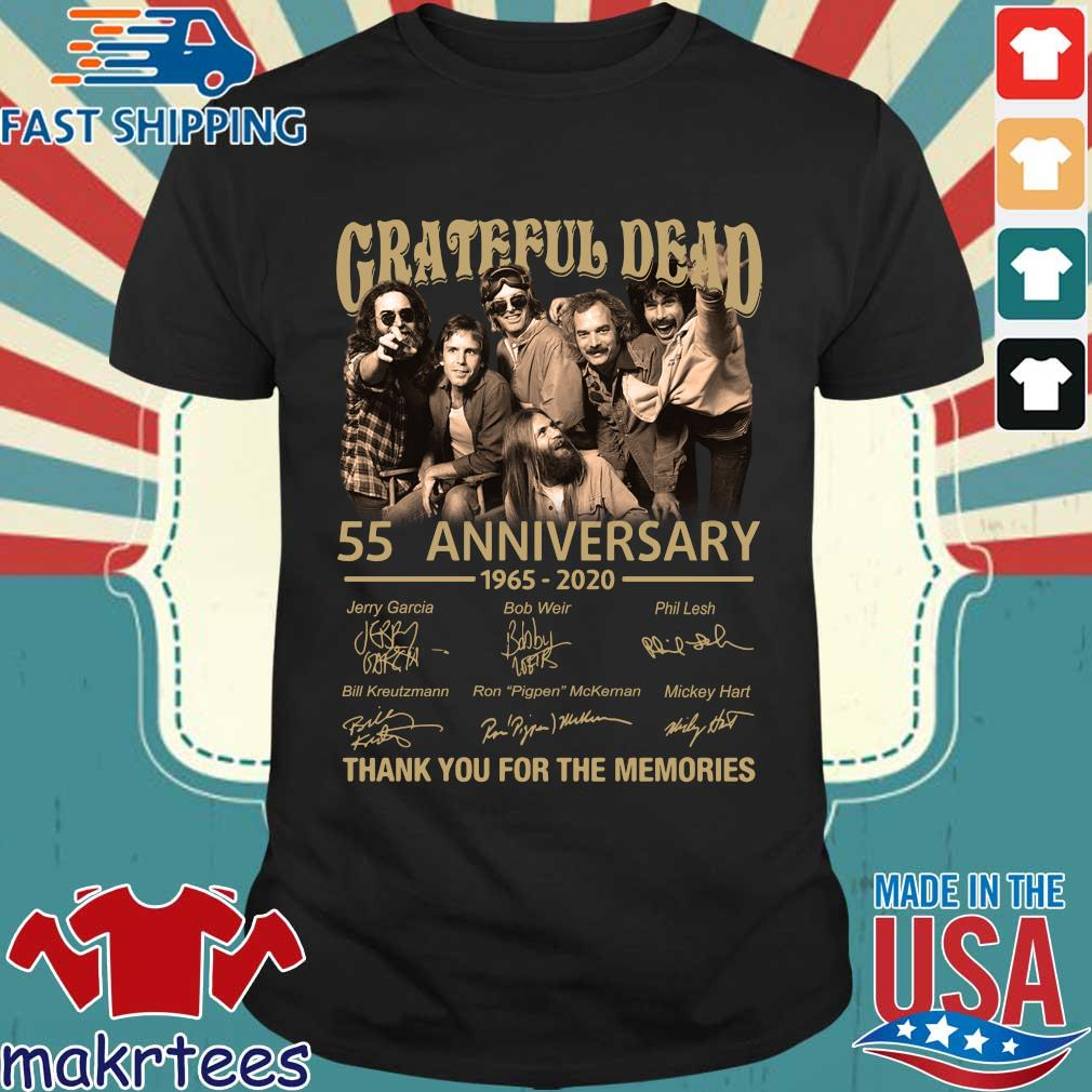 Grateful Dead 55th Anniversary 1965-2020 Thank You For The Memories Shirt