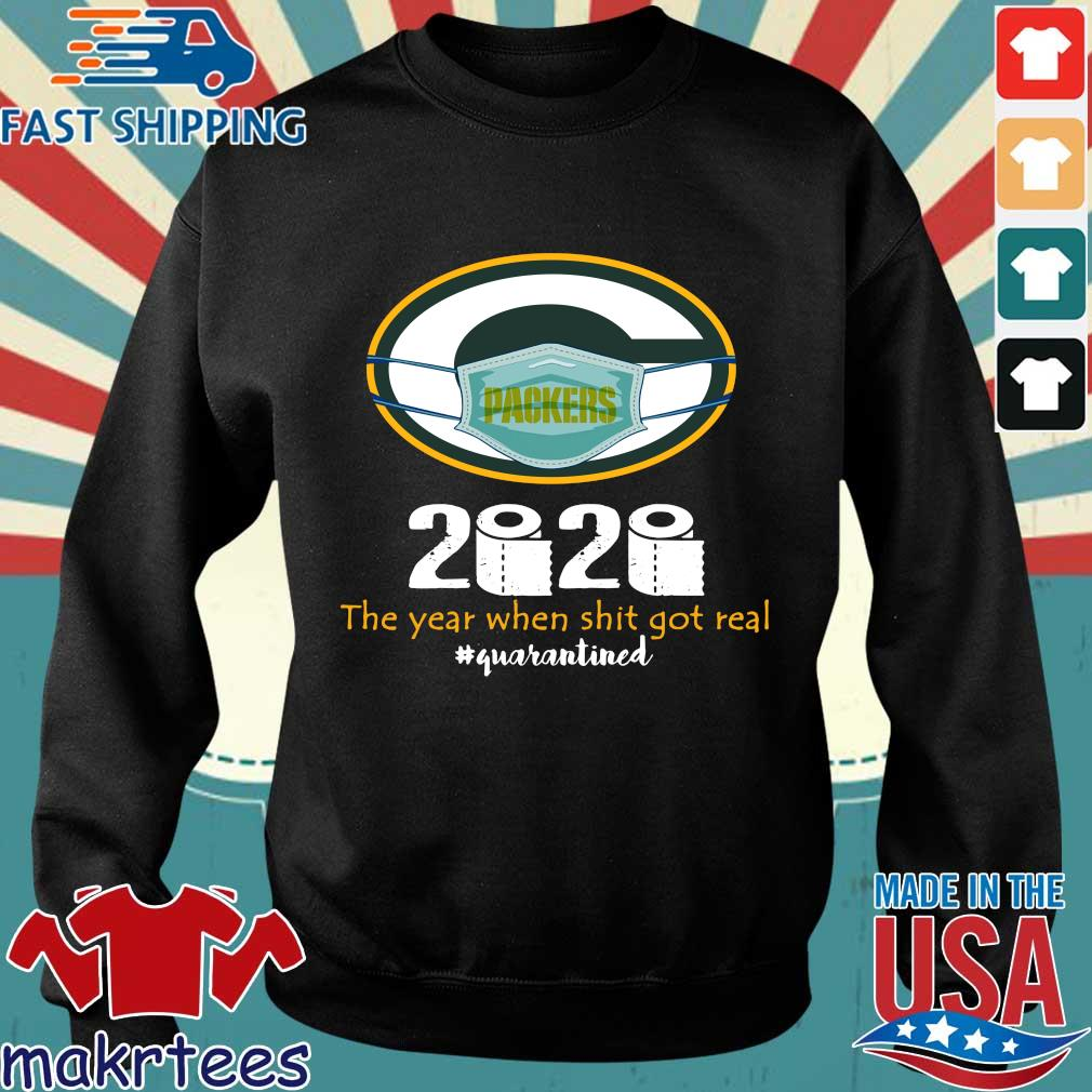 Green Bay Packers 2020 The Year When Shit Got Real Quarantined Toilet Paper Mask Covid-19 Shirt Sweater den