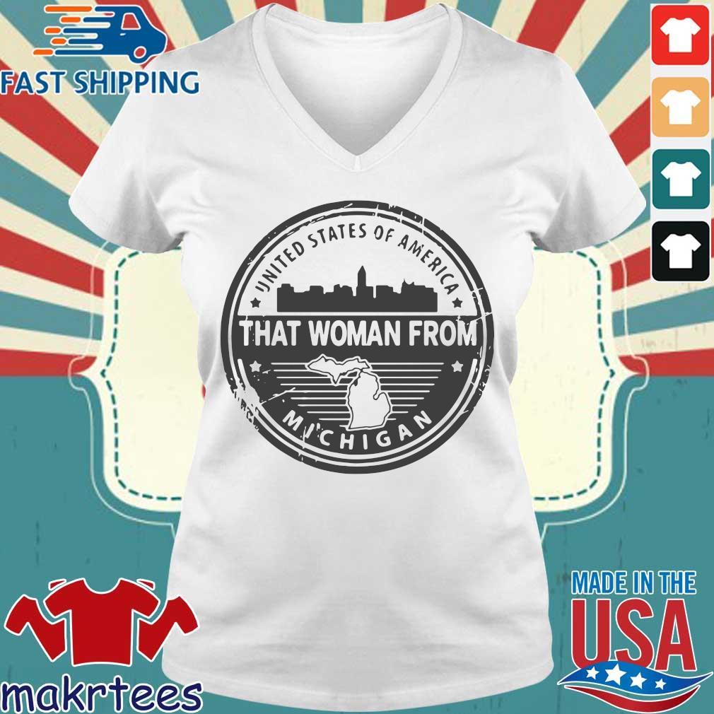 Gretchen Whitmer – That Woman From Michigan Shirt Ladies V-neck trang
