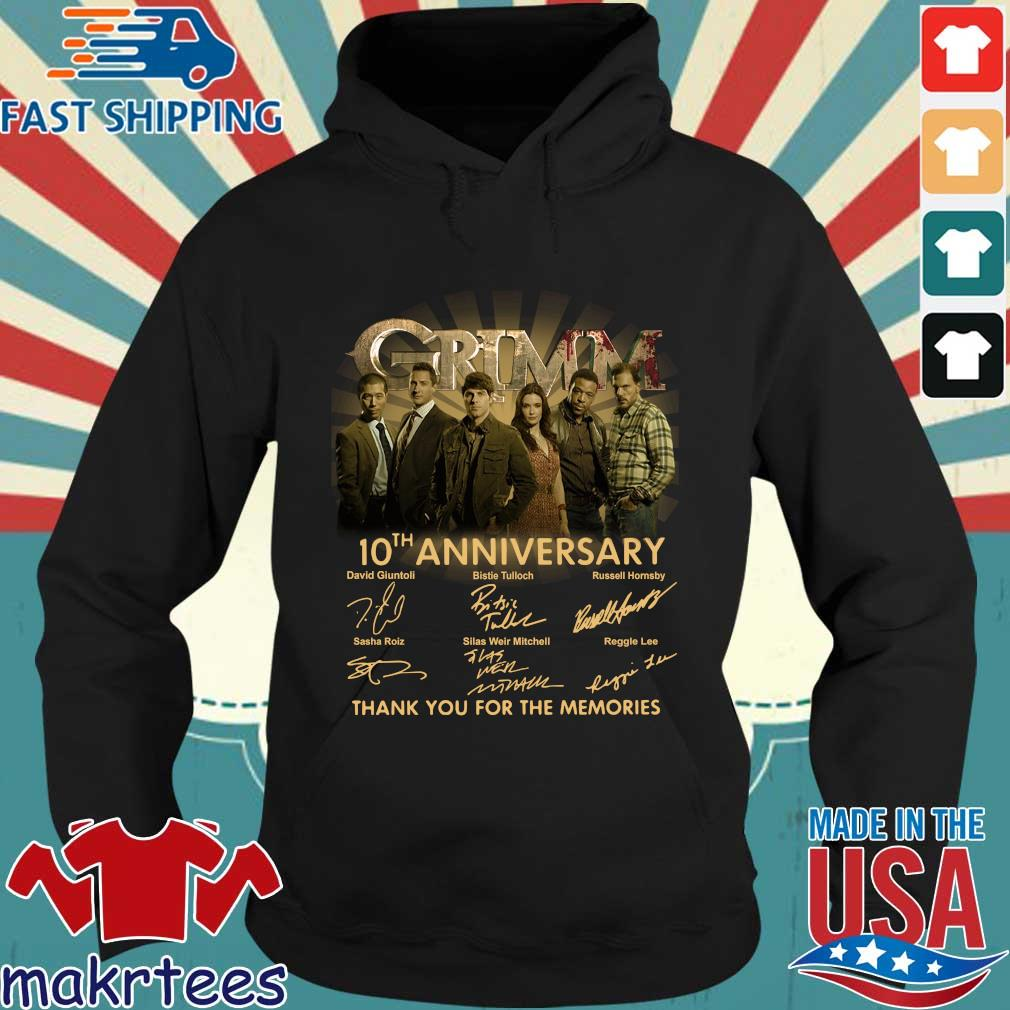 Grimm th anniversary thank you for the memories signatures s Hoodie den