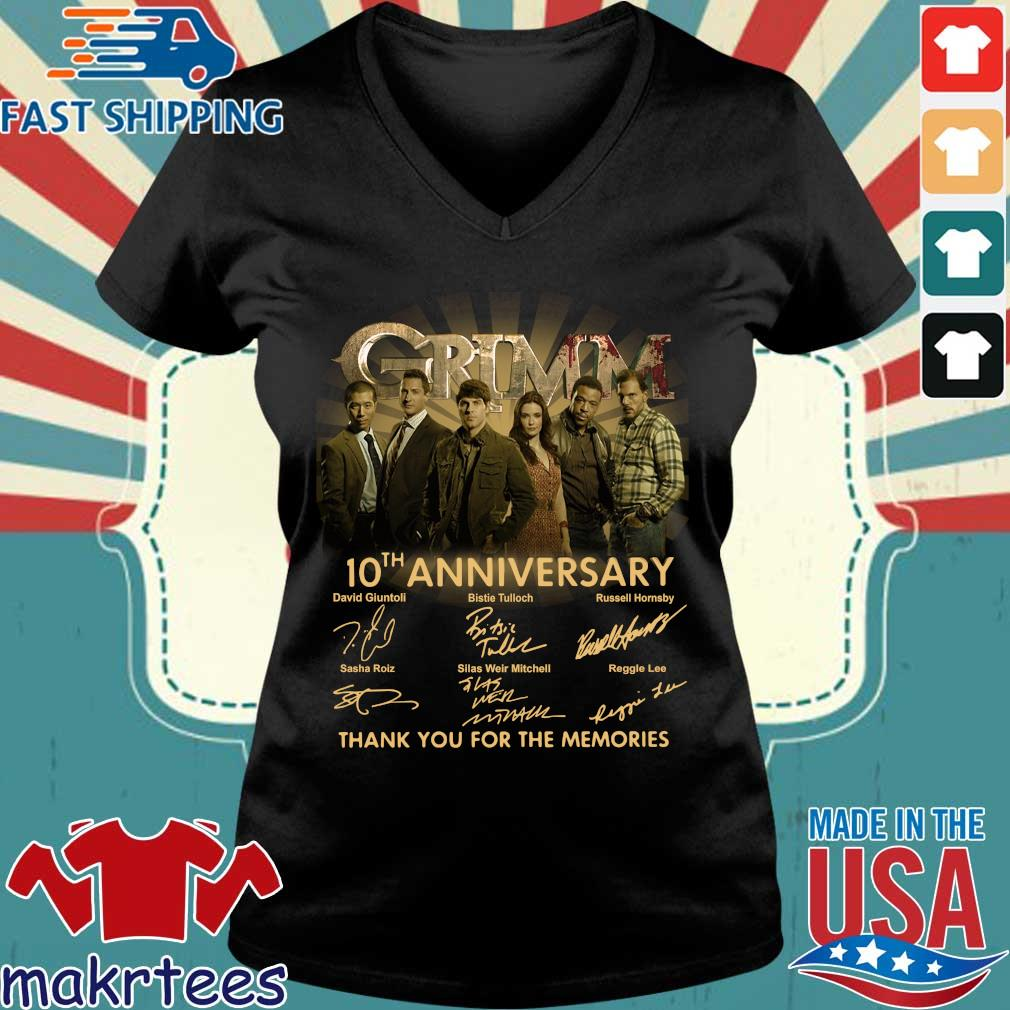 Grimm th anniversary thank you for the memories signatures s Ladies V-neck den