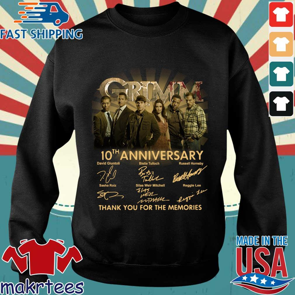 Grimm th anniversary thank you for the memories signatures s Sweater den