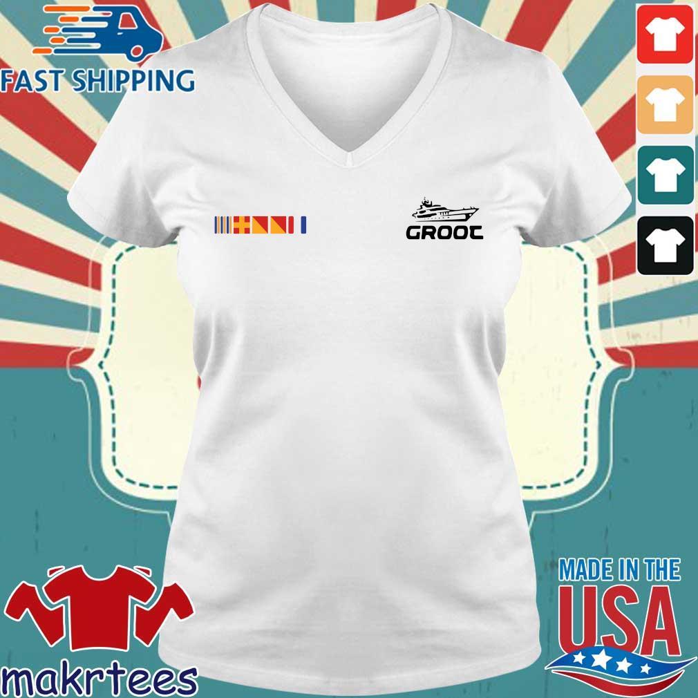 Groot Yacht Shirt Ladies V-neck trang