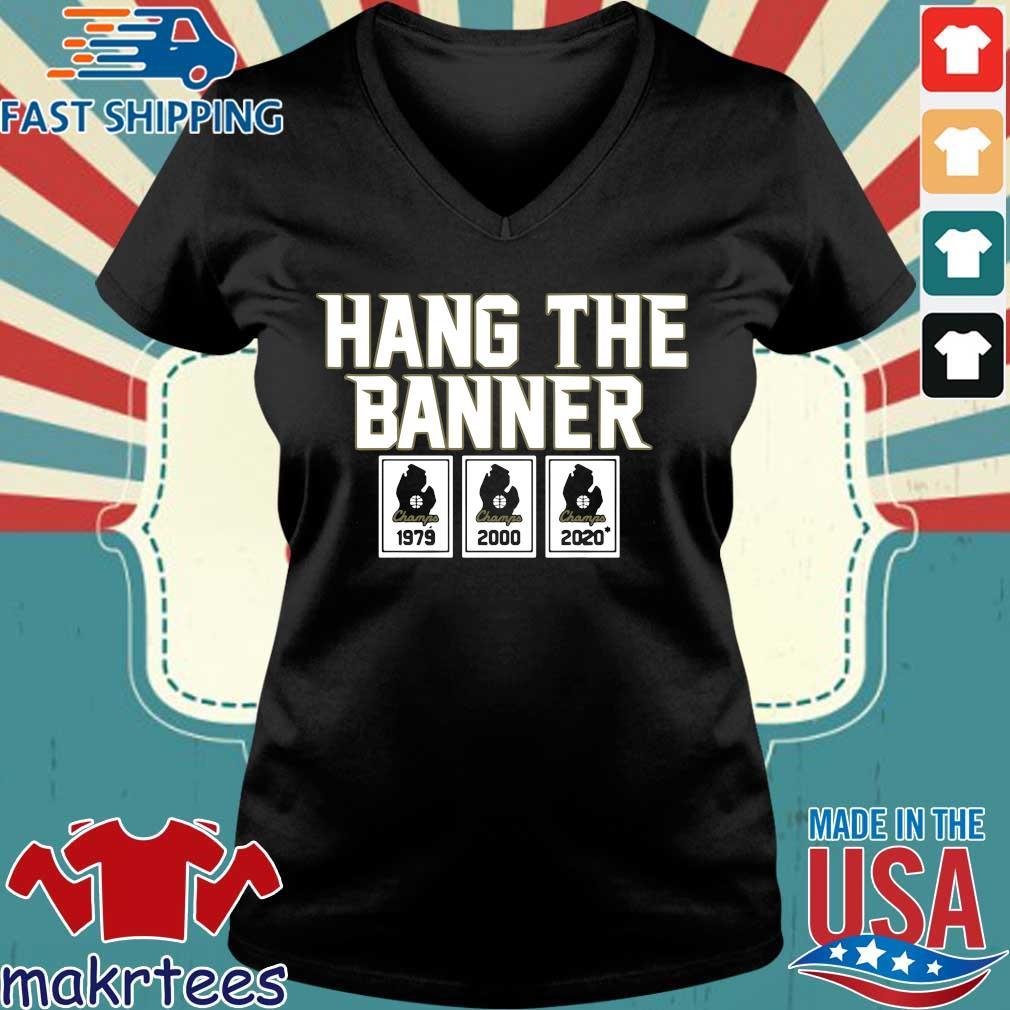 Hang The Banner East Lansing Shirt Ladies V-neck den