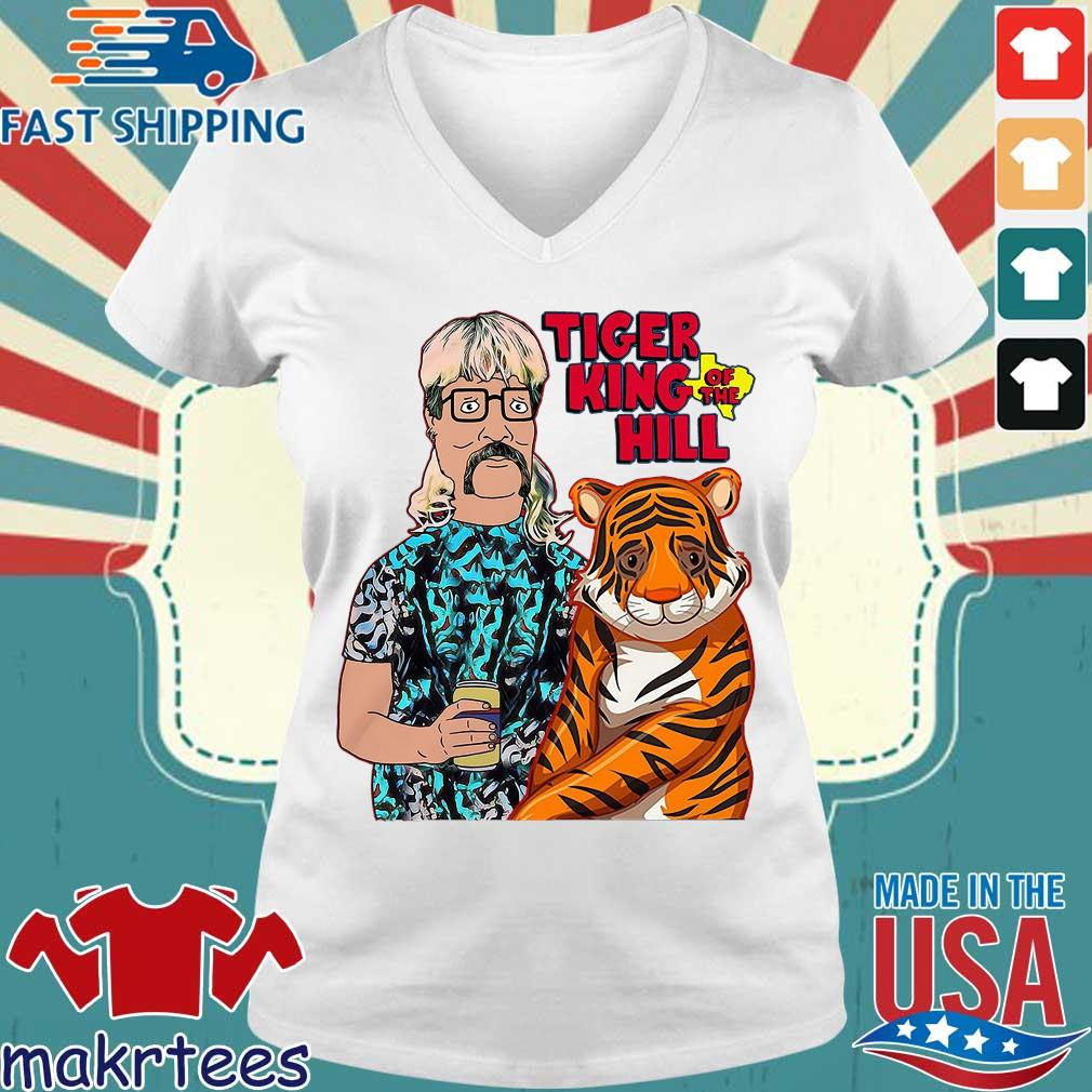 Hank Hill Tiger King Of The Hill Texas T-s Ladies V-neck trang