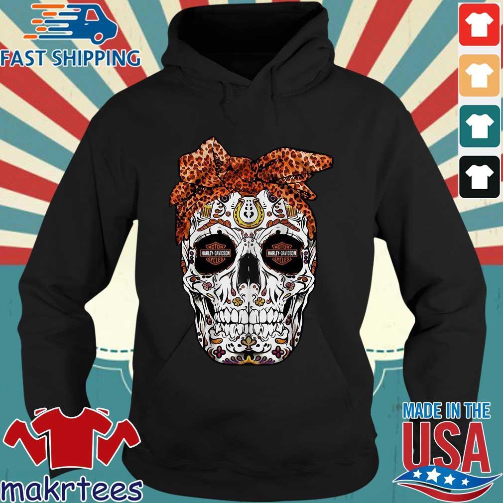 Harley-davidson Suger Skull Leopard Bow Shirt Hoodie den