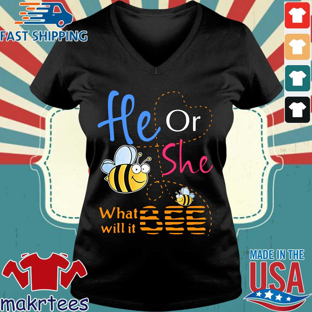 He Or She What Will It Bee 2020 Shirt Ladies V-neck den