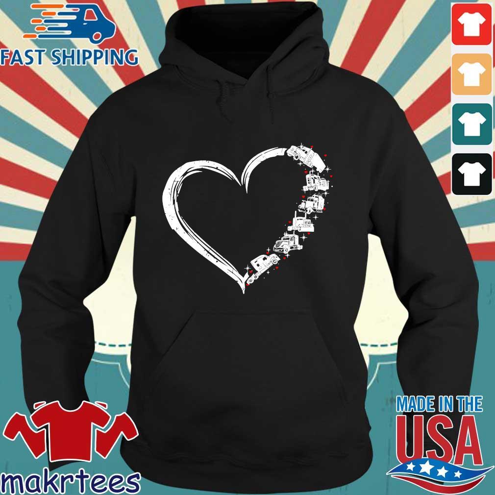 Heart Truck I Love Trucker Shirt Hoodie den
