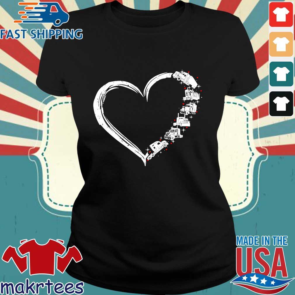 Heart Truck I Love Trucker Shirt Ladies den