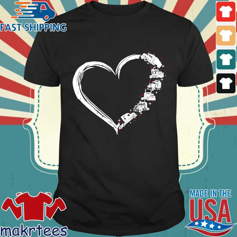 Heart Truck I Love Trucker Shirt