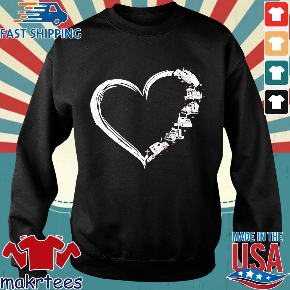 Heart Truck I Love Trucker Shirt Sweater den