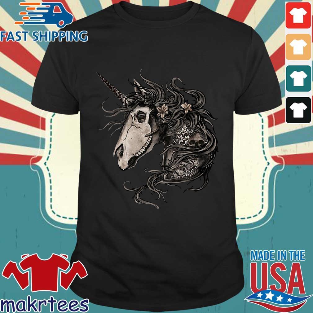 Horse Skull Flower Shirt
