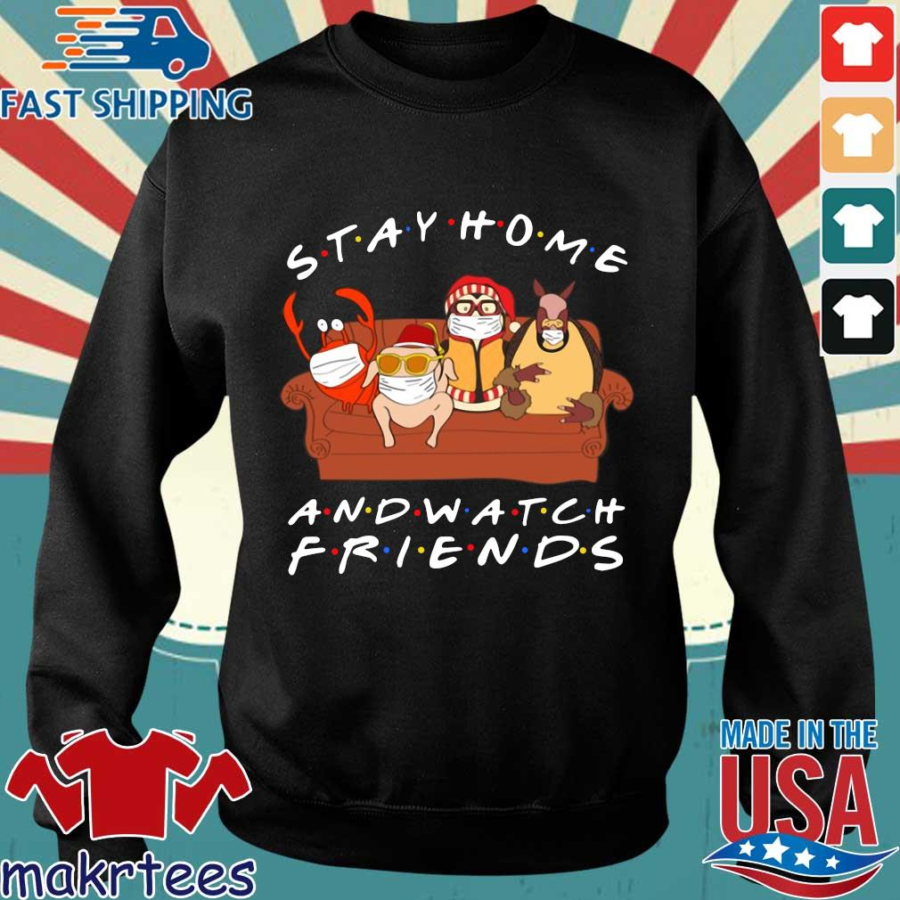 Hugsy Stay Home And Watch Friends Tee Shirts Sweater den