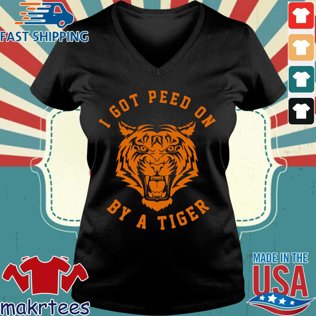 I Got Peed On By A Tiger Joe Exotic Shirt Ladies V-neck den