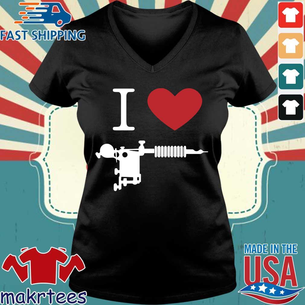 I Love Tattoos Black Shirt Ladies V-neck den
