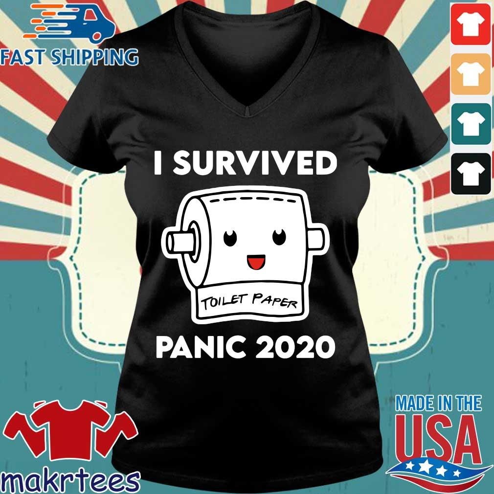 I Survived Panic 2020 Toilet Paper Shirt Ladies V-neck den